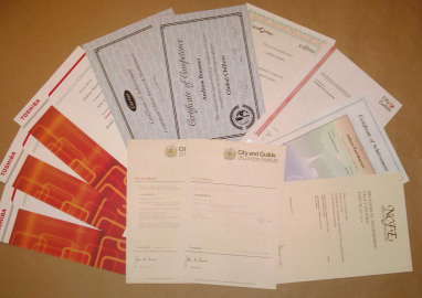 City & Guids certificates